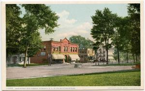 Plymouth NH Main Street View & Common Postcard