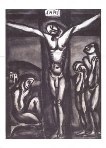 Christian Art Print Postcard, Love One Another by Georges Rouault 1923 I86