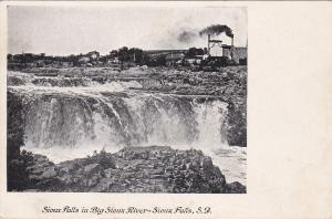 SIOUX FALLS, South Dakota, 1901-07; Sioux Falls In Big Sioux River