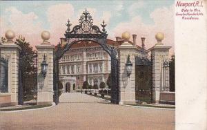 Rhode Island Newport Gate To Mrs Cornelius Vanderbilt's Residence