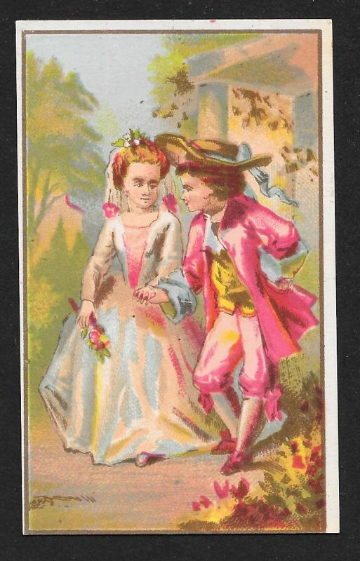 VICTORIAN TRADE CARDS (4) Stock Cards Dressed up Kids in Various Activities