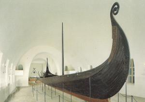 Oslo Norway The Viking Ships Museum Oseberg Boat Postcard
