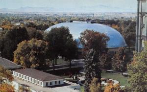 Salt Lake City Utah~Summer Scene Over the Mormon L.D.S Tabernacle~1960 Postcard