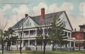 LINCOLN, Nebraska, 1900-1910s; Governor's Mansion