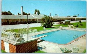 Santee, South Carolina Postcard CLOVER MOTEL  Pool View Roadside 1960 SC Cancel