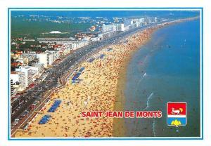 France Saint Jean de Monts Vue generale de la plage Beach