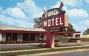 Chicago Illinois~Dunes Motel~Stony Island @ 94th Street~Close Up Sign~1960s PC