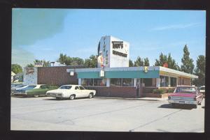 CARROLL IOWA TONY'S RESTAURANT 1960's CARS VINTAGE ADVERTISING POSTCARD