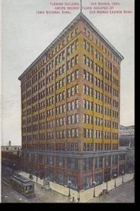 Iowa Des Moines Fleming Building Iowa National Bank & Des Moines Savings Bank...