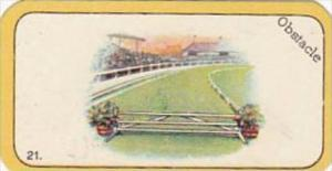 Carreras Cigarette Card Greyhound Racing Game No 21 Obstacle