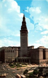 Ohio Cleveland Terminal Tower Building and Public Square