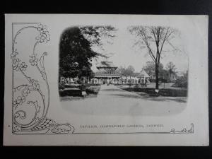 Norfolk NORWICH Chapelfield Gardens Pavillion c1905 Old Postcard