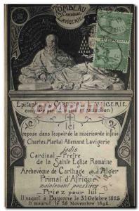 Old Postcard Epitaph Cardinal Lavigerie