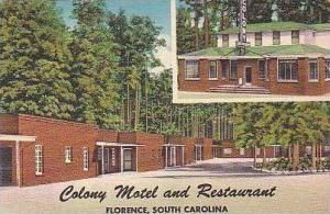 South Carolina Florence Colony Motel and Resturant
