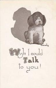 Fred Cavally Dog Series Wish I could Talk to you 1912