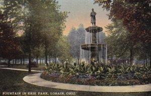 LORAIN, Ohio, 1900-1910s; Fountain In Erie Park