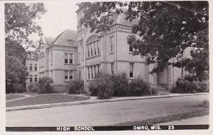 Wisconsin Omro High School Real Photo RPPC