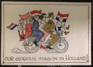 Mint Canada Color Picture Postcard Our Glorious Invasion In Holland WW2