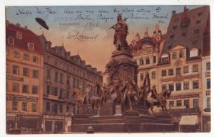 P374 JL 1906 postcard germany leipzig siegesdenkmal statue