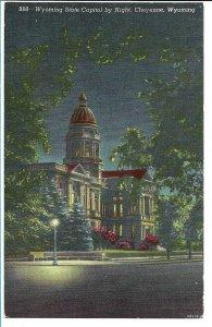 Cheyenne, WY - State Capitol by Night
