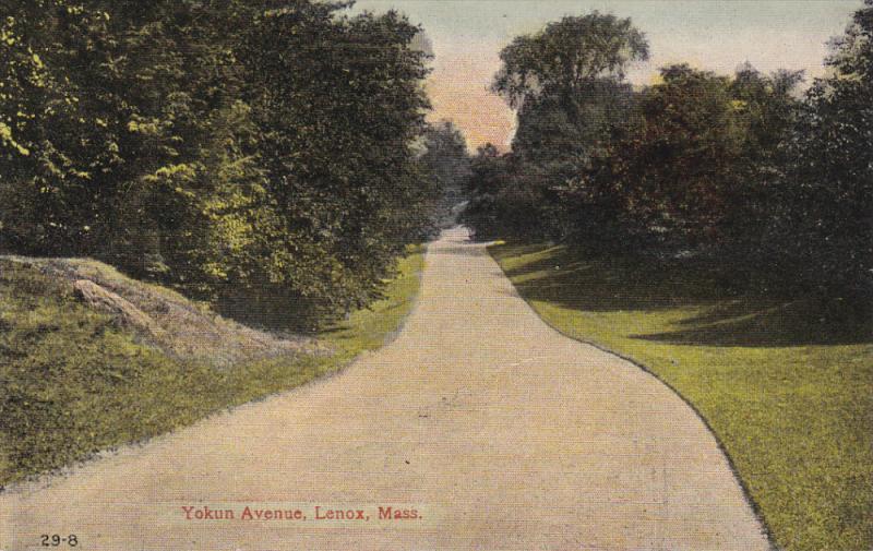 LENOX, Massachusetts, 1900-1910´s; Yokun Avenue