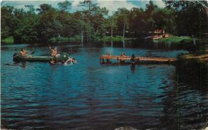 Wautoma Wisconsin~Lake Of The Woods Tent & Trailer Park~Canoe~Dock~1972