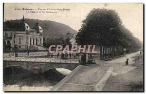 Old Postcard Quimper View I & # 39Odet Firmin at The Bridge Theater and Boule...