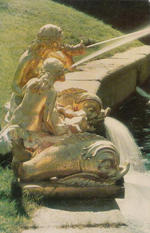 Russia Petrodvorets - The Pool of the Great Cascade (The Sirens Fountain)