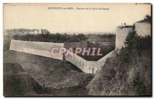 Old Postcard Montreuil Sur Mer Bastion Porte de France