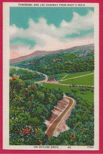 H-020 - Panorama of Lee's Hwy in Beautiful Shenandoah National, VA Postcard