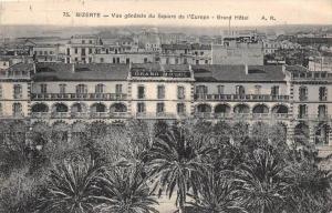 12492  Tunsia  Bizarte  1910 Vue gendarme du Square de l'europe- Grand Hotel