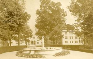Mystery Statue & Fountain ????  Woman Carrying Water Jug    *RPPC