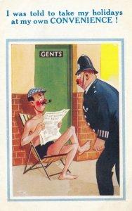 Policeman & Man reading Newspaper , 20-30s