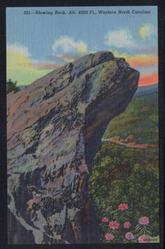 North Carolina colour PC Blowing Rock, Alt. 4000 Ft.  unused
