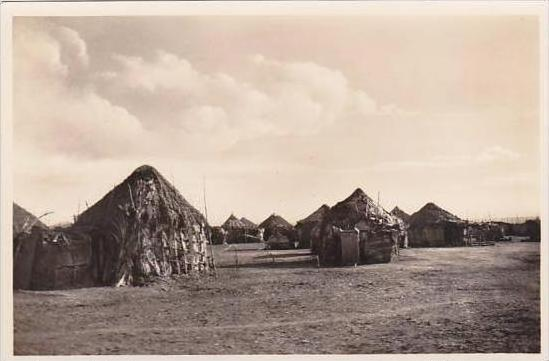 Djibouti Village Indigene Des cases Photo Postcard