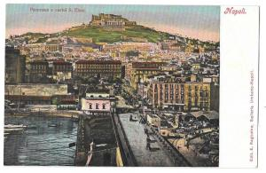 Italy Napoli Panorama Castel S Elmo Vntg Ragozino Postcard