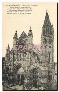 Old Postcard Caudebec en Caux S Inf Cathedrale