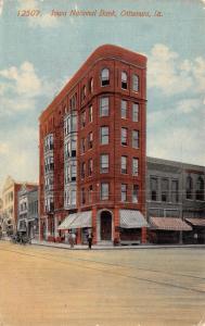 Ottumwa Iowa~National Bank on the Corner~Dr Well?s Office~Postcard 1914