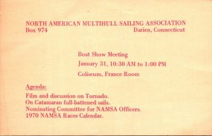 Connecticut Darien North American Multihull Sailing Association Boat Show Mee...