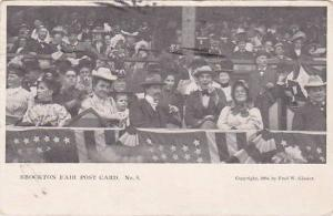Massachusetts Brockton Fair Post Card No 8 Crowd In The Stands 1906