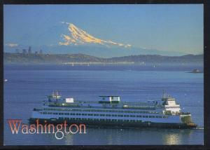 Washington State Ferry colour PC Old Mt Ranier unused