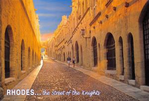 Greece Rhodes Postcard Old Town, The Street of the Knights 88B
