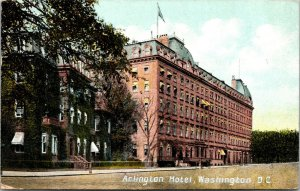 Vtg 1908 Arlington Hotel Prudential Insurance Washington DC Postcard