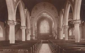 Organ & Interior St Nicholas Church Sutton Antique Postcard