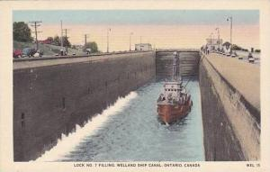 Lock No. 7 Filling, Welland Ship Canal, Ontario, Canada, 1910-1920s