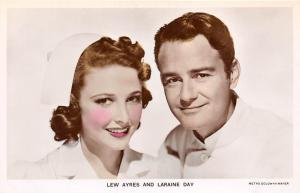 Cinema Moviestar Actors: Lew Ayres and Laraine Day, Real Photograph