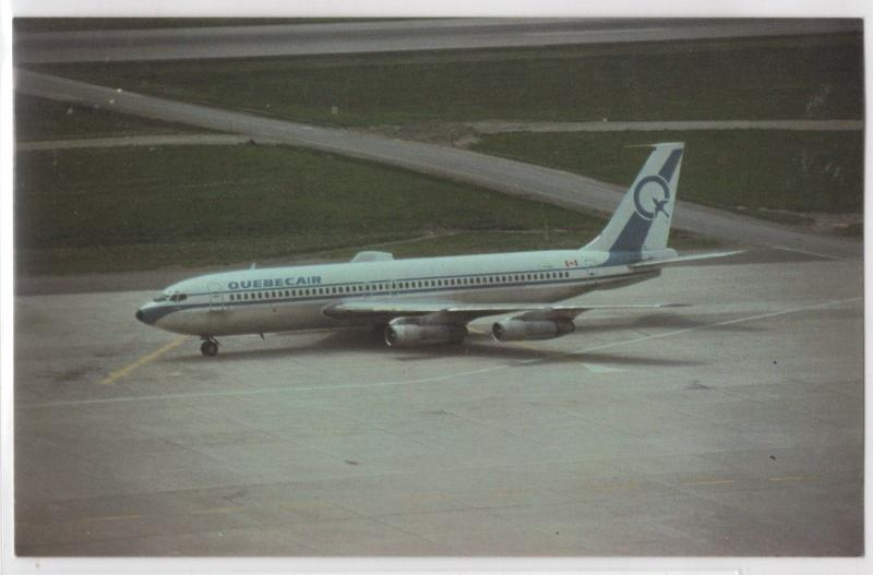 Quebecair Airlines Boeing B-707 On Tarmac Taxiing Canada Aircraft Postcard