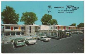 Monroe, Louisiana,  View of Monroe TraveLodge, 1968