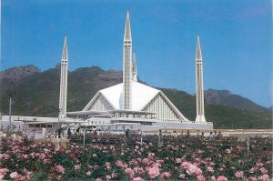 Pakistan Shah Faisal mosque Islamabad postcard
