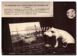 Marseille Old Postcard Sardines the old port of Marseille (pig pig)